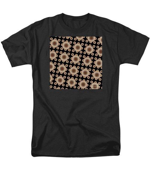 Brown And Black Mandala Pattren Men's T-Shirt  (Regular Fit) by Saribelle Rodriguez