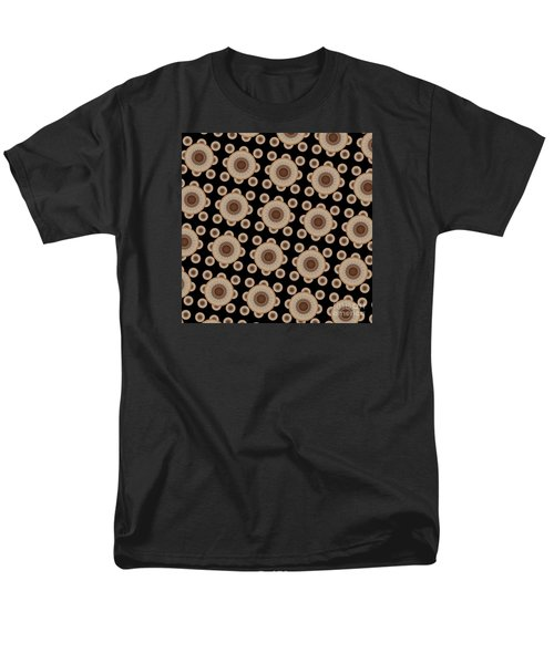 Men's T-Shirt  (Regular Fit) featuring the digital art Brown And Black Mandala Pattren by Saribelle Rodriguez