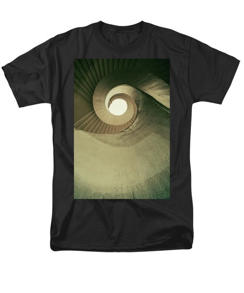Men's T-Shirt  (Regular Fit) featuring the photograph Brown Spiral Stairs by Jaroslaw Blaminsky