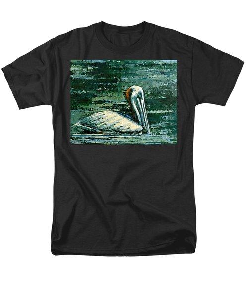 Brownie Swimming In Green Water Men's T-Shirt  (Regular Fit)