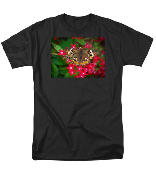 Buckeye On Pentas Men's T-Shirt  (Regular Fit) by Judy Wanamaker