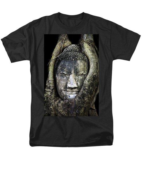 Buddha Head in Banyan Tree T-Shirt by Adrian Evans