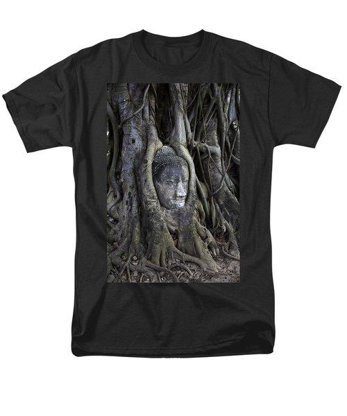 Buddha Head In Tree Men's T-Shirt  (Regular Fit) by Adrian Evans