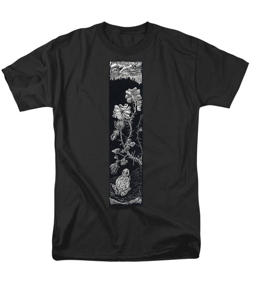 Men's T-Shirt  (Regular Fit) featuring the drawing Buffalo Burr And Toad by Dawn Senior-Trask
