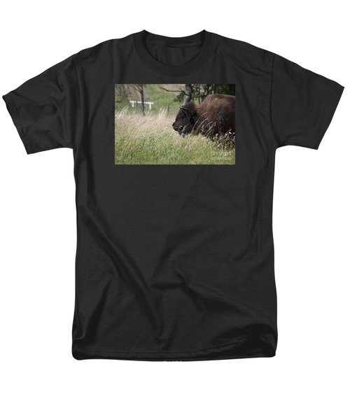 Men's T-Shirt  (Regular Fit) featuring the photograph Buffalo Gal 20120724_378a by Tina Hopkins