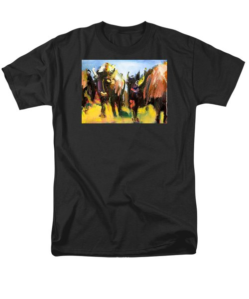 Buffalo Lips Men's T-Shirt  (Regular Fit) by Les Leffingwell