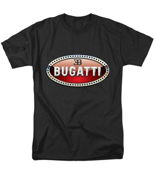 Bugatti - 3 D Badge On Black Men's T-Shirt  (Regular Fit) by Serge Averbukh