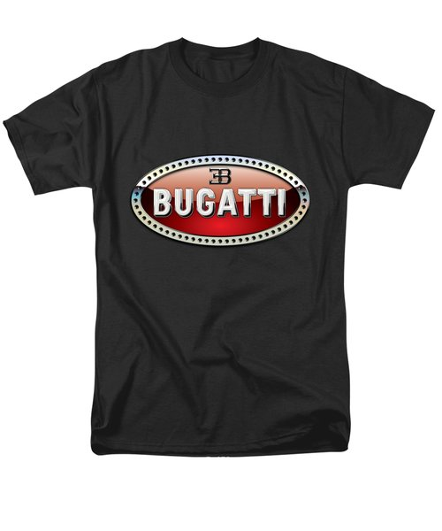 Bugatti - 3 D Badge On Black Men's T-Shirt  (Regular Fit)