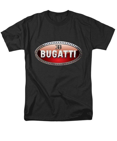 Bugatti - 3d Badge On Black Men's T-Shirt  (Regular Fit) by Serge Averbukh