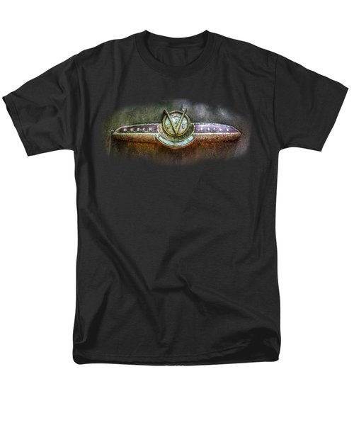 Men's T-Shirt  (Regular Fit) featuring the photograph Buick Super Eight Logo by Debra and Dave Vanderlaan