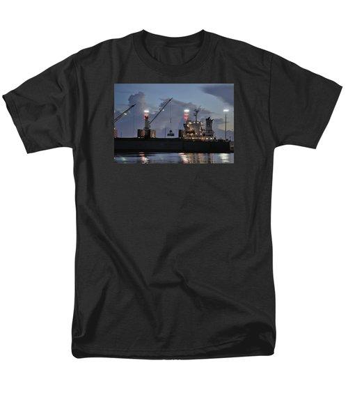 Bulk Cargo Carrier Loading At Dusk Men's T-Shirt  (Regular Fit) by Bradford Martin