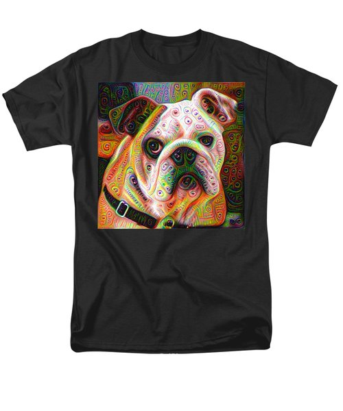 Bulldog Surreal Deep Dream Image Men's T-Shirt  (Regular Fit) by Matthias Hauser