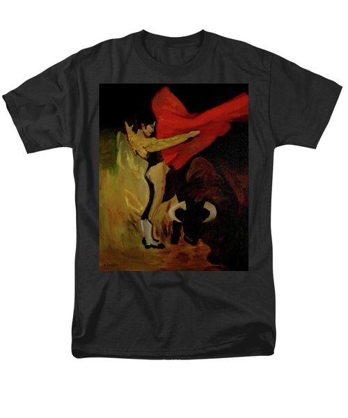 Men's T-Shirt  (Regular Fit) featuring the painting Bullfighter By Mary Krupa by Bernadette Krupa