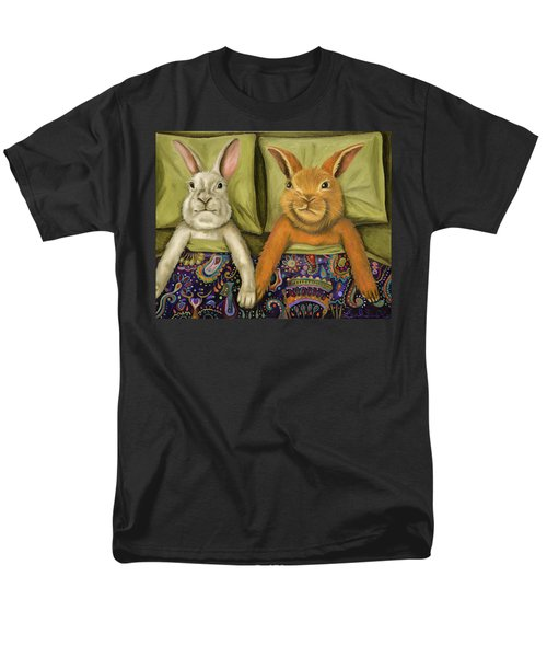 Men's T-Shirt  (Regular Fit) featuring the painting Bunny Love by Leah Saulnier The Painting Maniac
