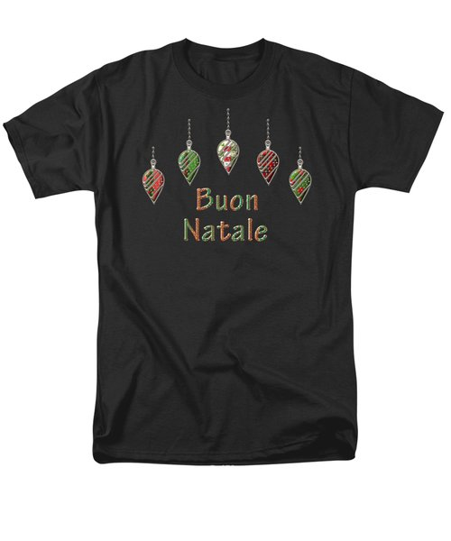 Buon Natale Italian Merry Christmas Men's T-Shirt  (Regular Fit) by Movie Poster Prints