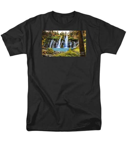 Men's T-Shirt  (Regular Fit) featuring the photograph Burney Falls by Jason Abando