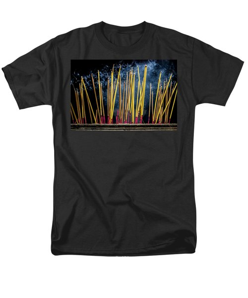Burning Joss Sticks Men's T-Shirt  (Regular Fit) by Hitendra SINKAR