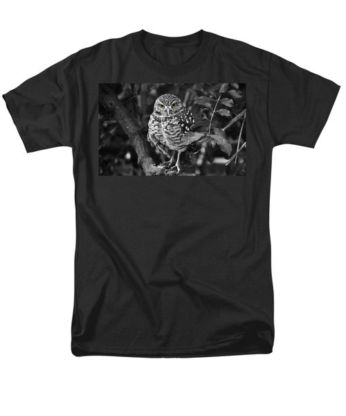 Burrowing Owl  Selective Color Eyes Men's T-Shirt  (Regular Fit) by Judy Wanamaker