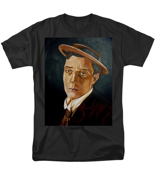Men's T-Shirt  (Regular Fit) featuring the painting Buster Keaton Tribute by Bryan Bustard