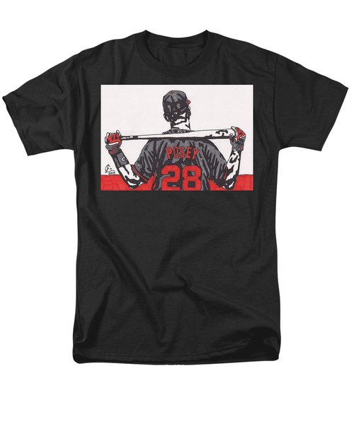Buster Posey Men's T-Shirt  (Regular Fit) by Jeremiah Colley
