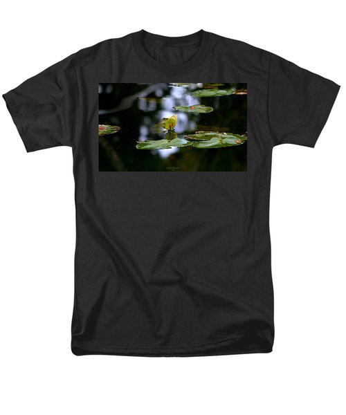 Butterfly Lily Pad Men's T-Shirt  (Regular Fit) by Jeanette C Landstrom