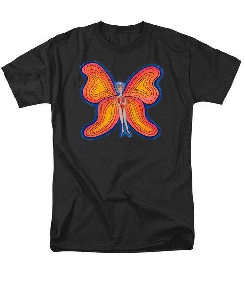 Butterfly Mantra Men's T-Shirt  (Regular Fit) by Deborha Kerr