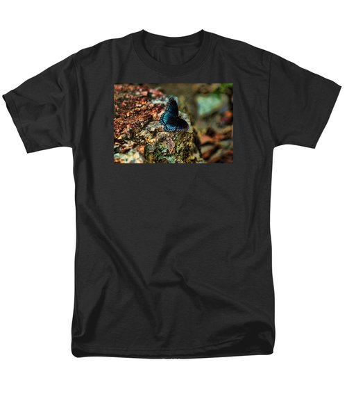 Men's T-Shirt  (Regular Fit) featuring the photograph Butterfly Rock by Rick Friedle