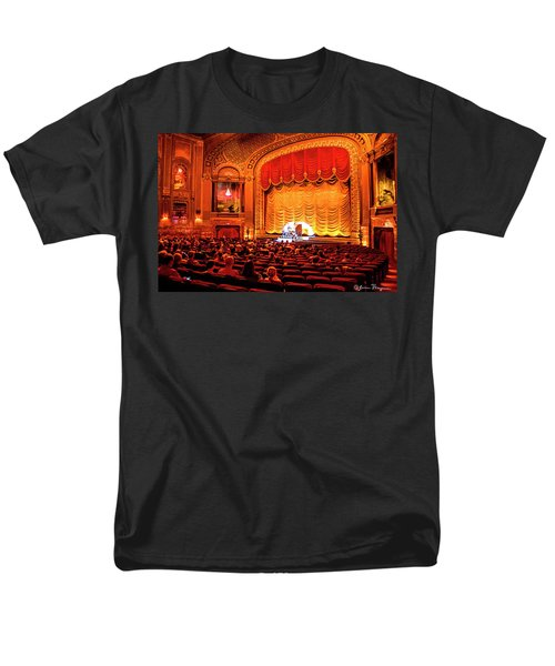 Men's T-Shirt  (Regular Fit) featuring the photograph Byrd Theatre Organist by Jean Haynes