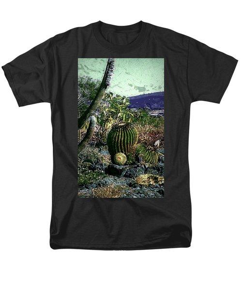 Men's T-Shirt  (Regular Fit) featuring the photograph Cacti by Lori Seaman
