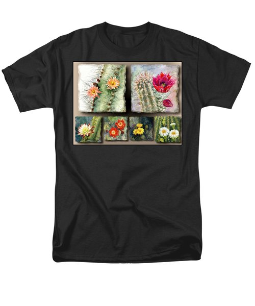Men's T-Shirt  (Regular Fit) featuring the painting Cactus Collage 10 by Marilyn Smith