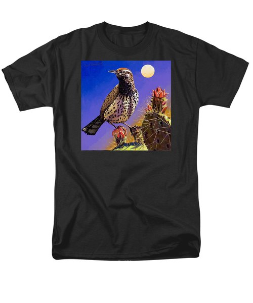 Men's T-Shirt  (Regular Fit) featuring the painting Cactus Wren by Bob Coonts