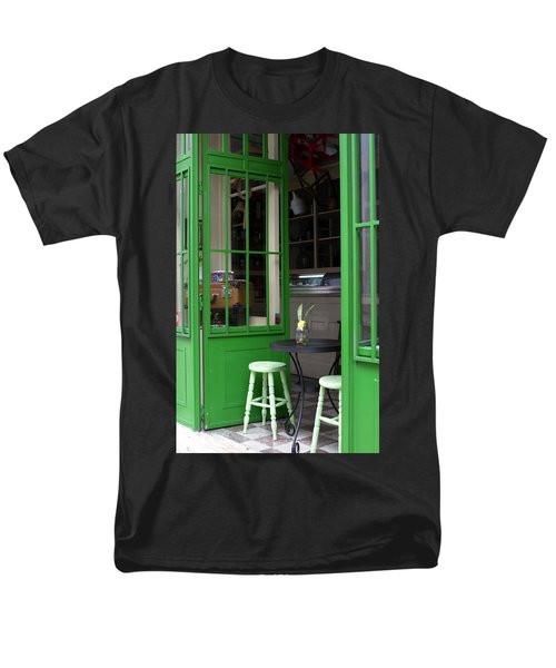 Men's T-Shirt  (Regular Fit) featuring the photograph Cafe In Green by Lorraine Devon Wilke