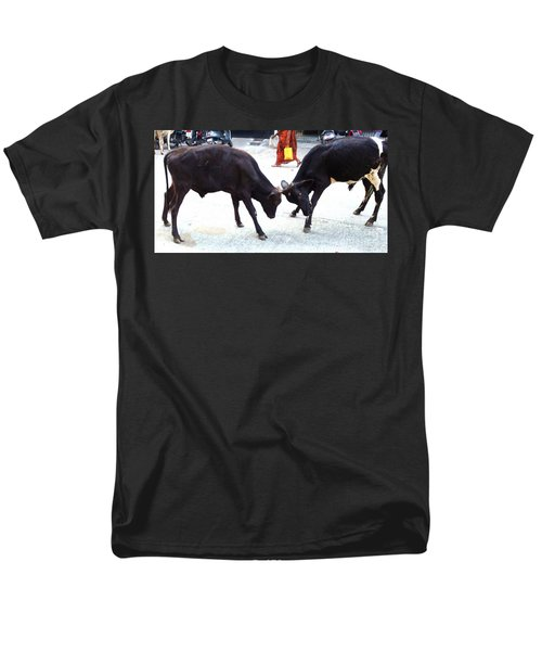 Calf Fighting Men's T-Shirt  (Regular Fit) by Ragunath Venkatraman
