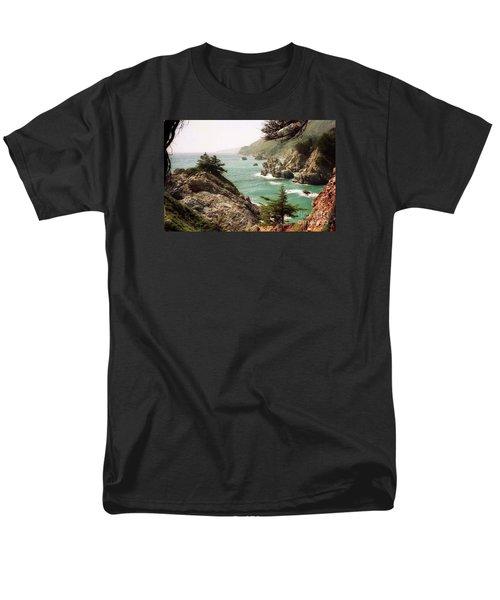 California Highway 1 Coast Men's T-Shirt  (Regular Fit) by Ted Pollard