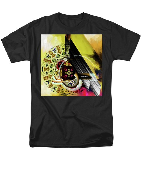 Men's T-Shirt  (Regular Fit) featuring the painting Calligraphy 103 2 1 by Mawra Tahreem