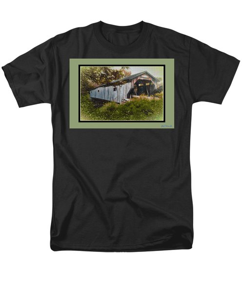 Men's T-Shirt  (Regular Fit) featuring the digital art Cambridge Jct. Bridge by John Selmer Sr