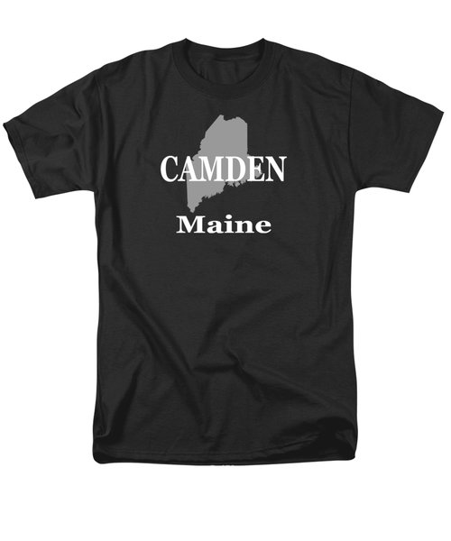 Men's T-Shirt  (Regular Fit) featuring the photograph Camden Maine State City And Town Pride  by Keith Webber Jr