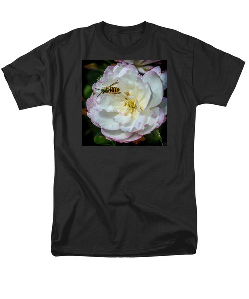 Men's T-Shirt  (Regular Fit) featuring the photograph Camelia With Company by Susi Stroud