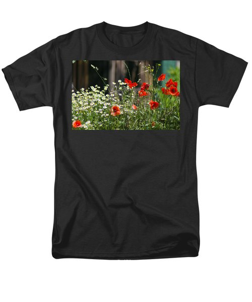 Camille And Poppies Men's T-Shirt  (Regular Fit) by Rainer Kersten