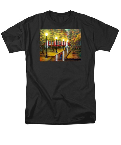 Men's T-Shirt  (Regular Fit) featuring the painting Campus Rain by Chris Fraser