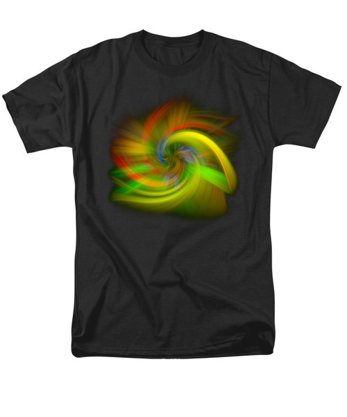 Men's T-Shirt  (Regular Fit) featuring the photograph Candy Mountain Twirl by Debra and Dave Vanderlaan