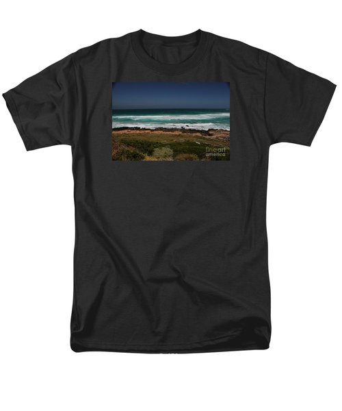 Capetown Penisula Beach Men's T-Shirt  (Regular Fit) by Bev Conover