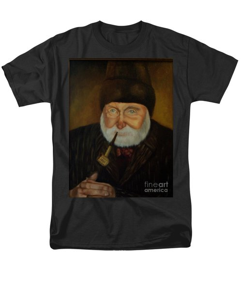Men's T-Shirt  (Regular Fit) featuring the painting Cap'n Danny by Marlene Book