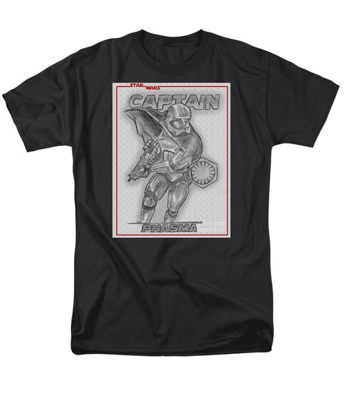 Men's T-Shirt  (Regular Fit) featuring the drawing Captain Phasma Of The First Order by Chris DelVecchio