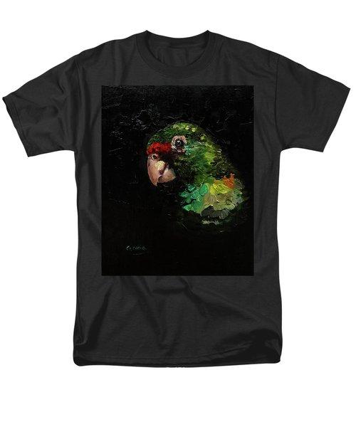 Captain The Parrot Men's T-Shirt  (Regular Fit) by Janet Garcia