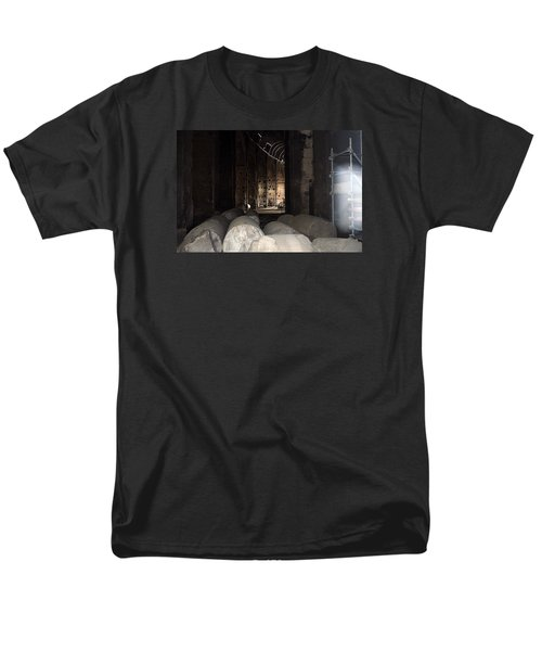 Captured Ghost At Colosseum Rome Men's T-Shirt  (Regular Fit) by Richard Ortolano