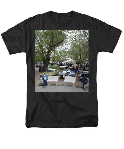 Men's T-Shirt  (Regular Fit) featuring the photograph Car Show In Deming N M by Jack Pumphrey