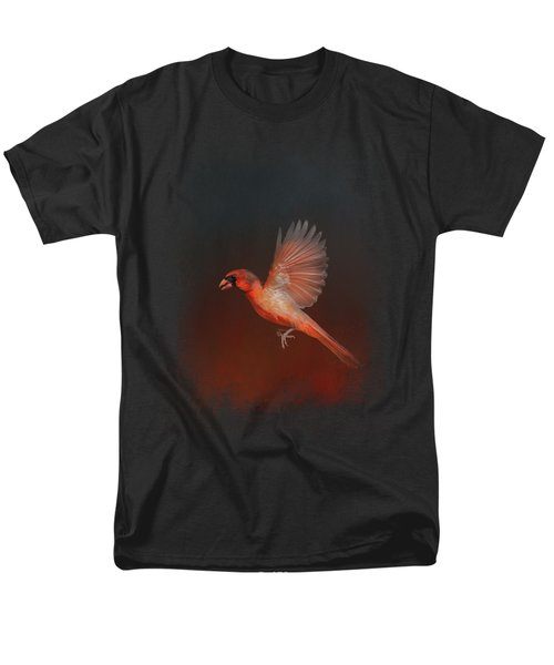 Cardinal 1 - I Wish I Could Fly Series Men's T-Shirt  (Regular Fit) by Jai Johnson
