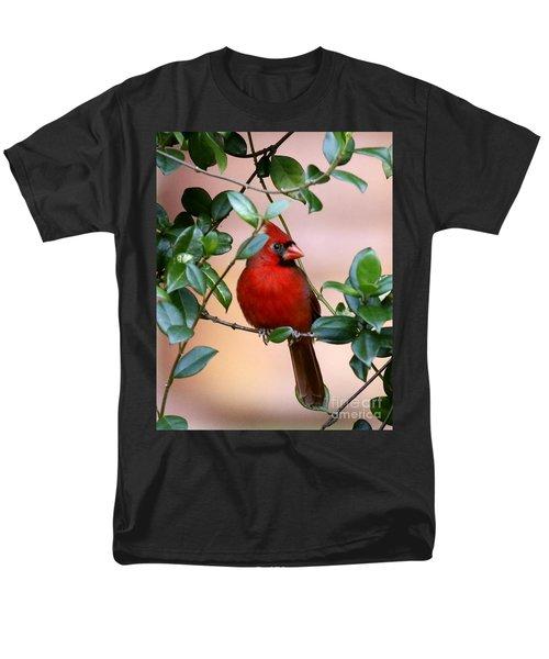 Cardinal In The Jasmine Men's T-Shirt  (Regular Fit) by Myrna Bradshaw