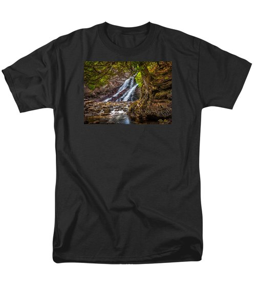 Men's T-Shirt  (Regular Fit) featuring the photograph Caribou Falls In Fall by Rikk Flohr